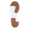 Bílé dámské kožené tenisky s hnědým detailem hogl, bílá, 544-1614 - 18