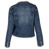 Modrá dámská bunda se zlatým řetízkem bata, modrá, 979-9582 - 26