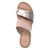 Růžové kožené dámské pantofle s hadím vzorem bata, růžová, 564-5620 - 17