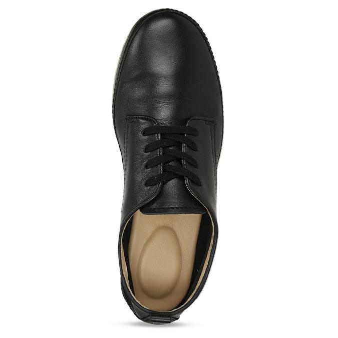 Černé dámské kožené polobotky comfit, černá, 524-6638 - 17