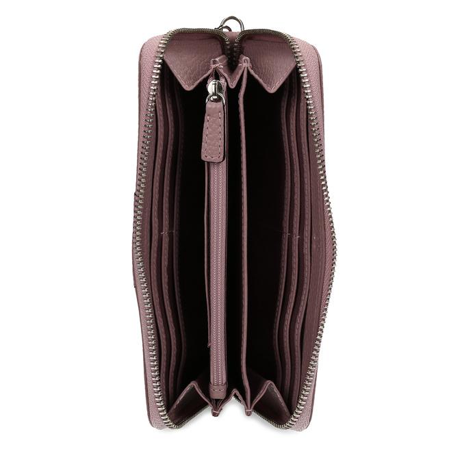 Růžová kožená dámská peněženka bata, růžová, 944-5609 - 15