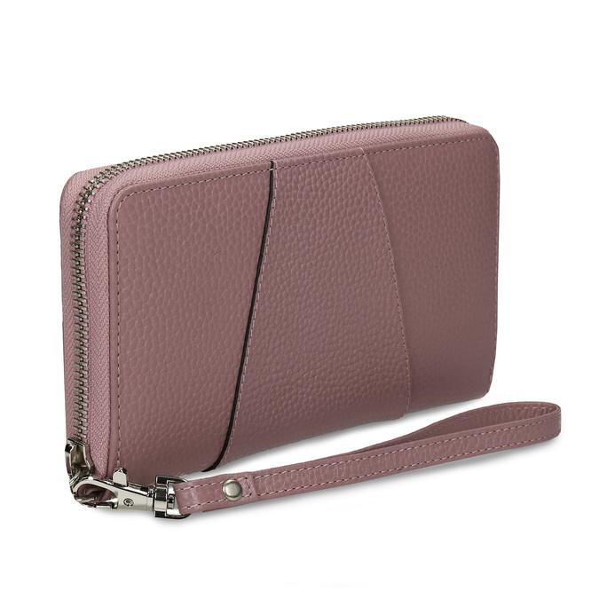 Růžová kožená dámská peněženka bata, růžová, 944-5609 - 13