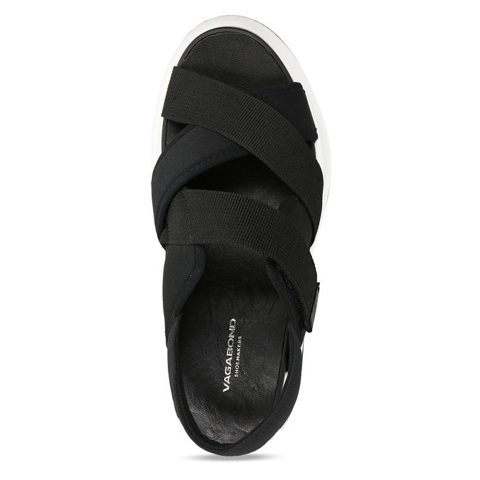 Černé dámské sandály na robustní podešvi vagabond, černá, 569-6600 - 17