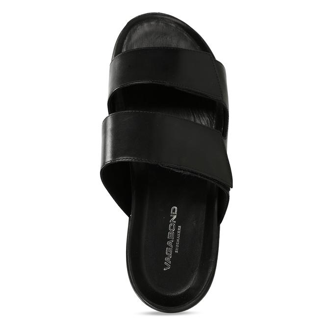 Černé pánské kožené pantofle vagabond, černá, 864-6610 - 17