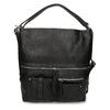 Černá dámská kabelka přeměnitelná na batoh gabor, černá, 961-6645 - 26