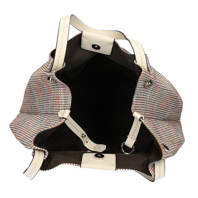 Barevná dámská kabelka s krémovými držadly bata, vícebarevné, 969-1673 - 15
