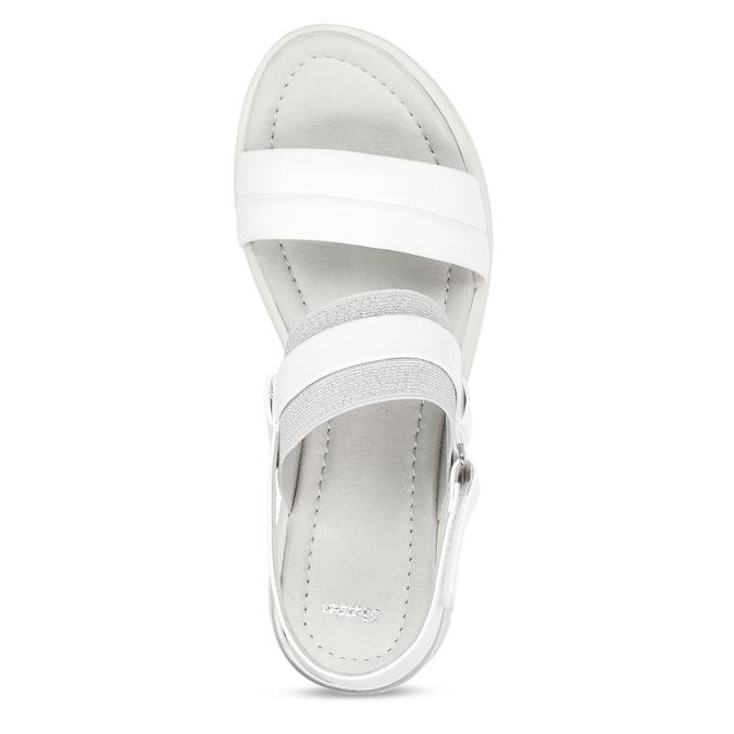 Bílé dámské sandály na klínovém podpatku bata, bílá, 661-1600 - 17
