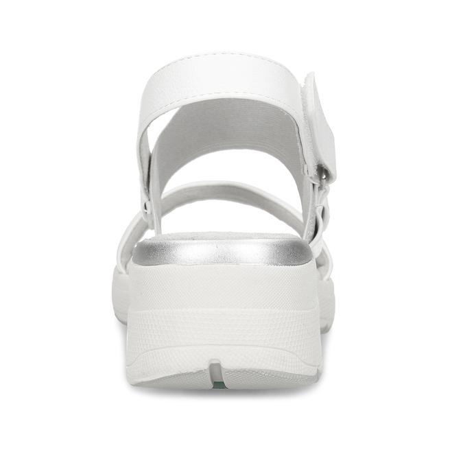 Bílé dámské sandály na klínovém podpatku bata, bílá, 661-1600 - 15