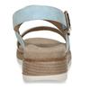 Modré dámské sandály na vyšší platformě bata, modrá, 561-9615 - 15