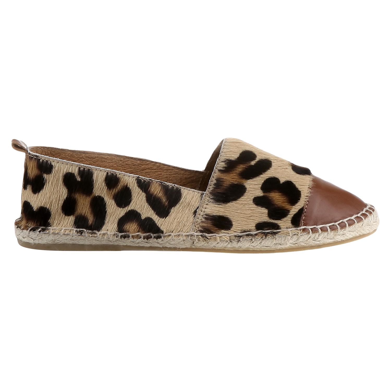 Výjimečné espadrilky s motivem leopardí kůže bata, hnědá, 2018-555-4300 - 26