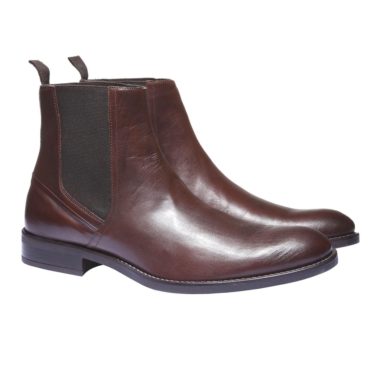 Kožená obuv v Chelsea stylu bata, 2019-894-4116 - 26