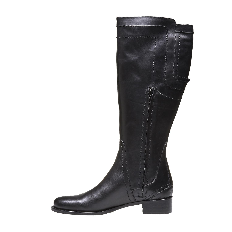 Andy - kozačky s originálním prošitím bata, černá, 2019-594-6139 - 15