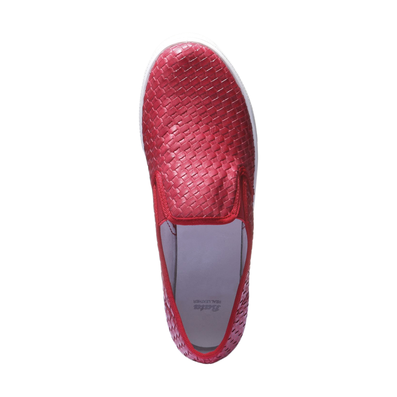 Trendy tenisky v zapleteném designu bata, červená, 2019-511-5124 - 19