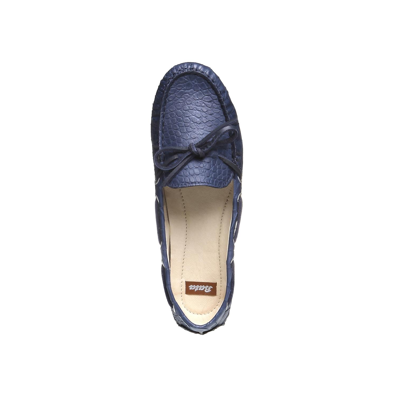 Kožené mokasíny bata, modrá, 2019-515-9330 - 19