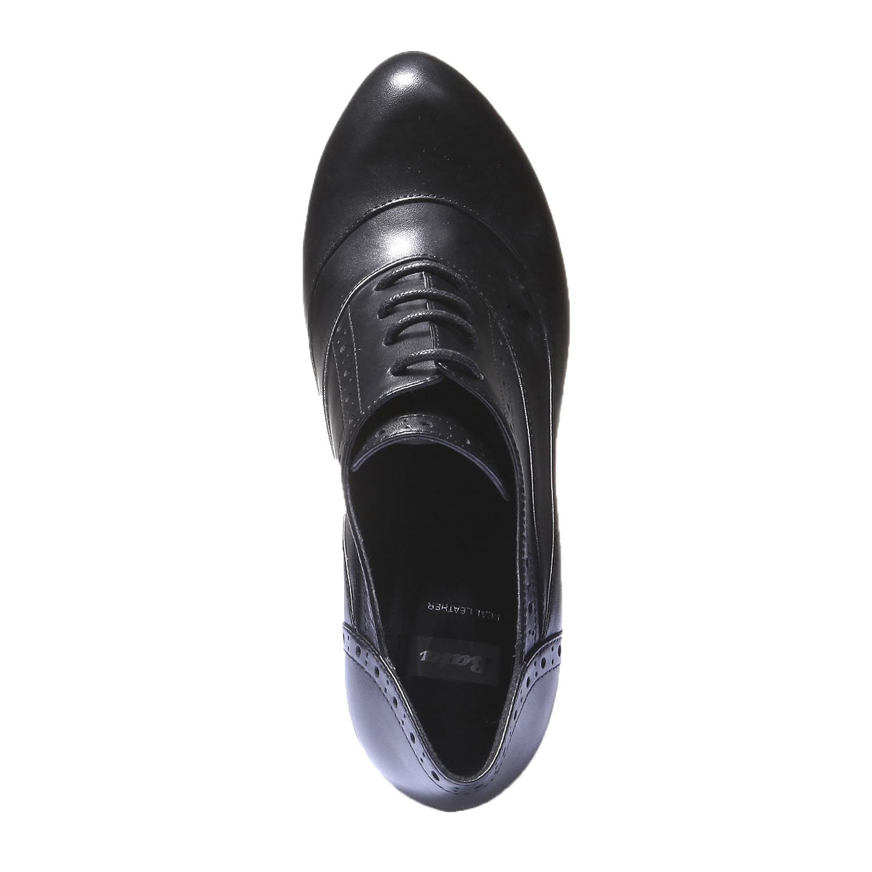 Kotníčkové boty s brogue zdobením bata, 2019-724-6797 - 19
