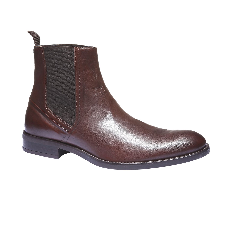 Kožená obuv v Chelsea stylu bata, 2019-894-4116 - 13