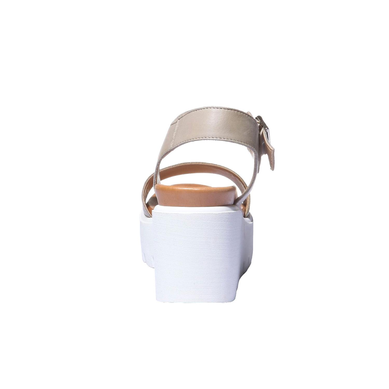 Trendy sandály na flatformě bata, béžová, 2019-764-2274 - 17