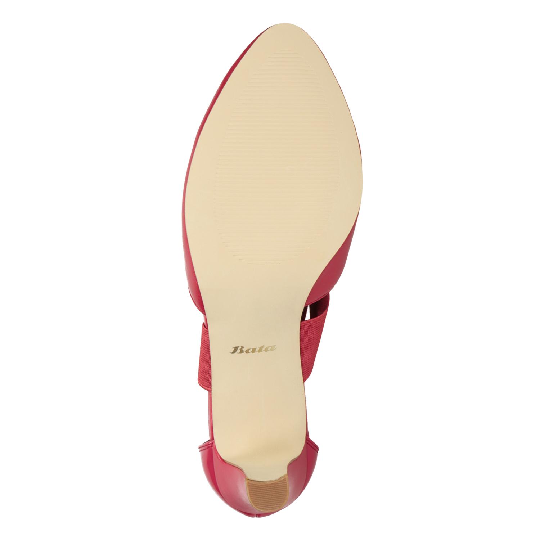7c68f8289bf Insolia Červené kožené lodičky - Všechny boty