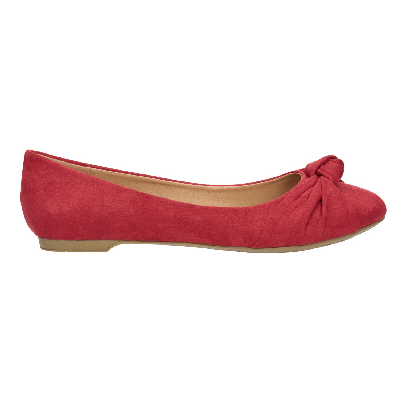 91e4769dc ... Červené baleríny s mašlí bata, červená, 529-5637 - 26 ...