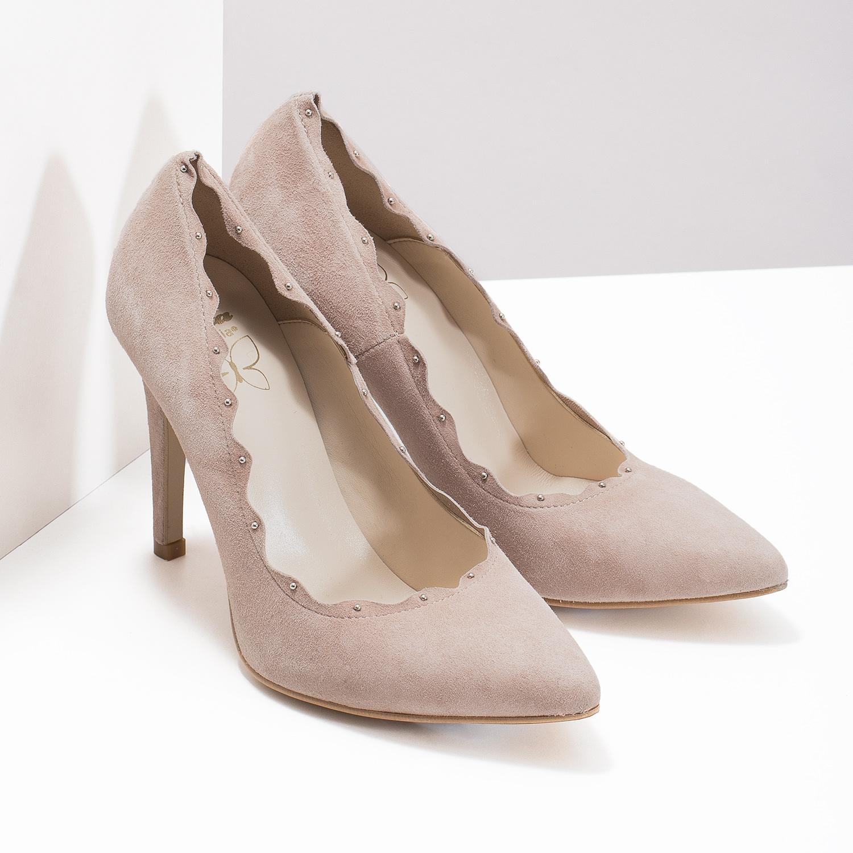 fead5b69e55 Insolia Dámské kožené lodičky s vykrojením - Všechny boty