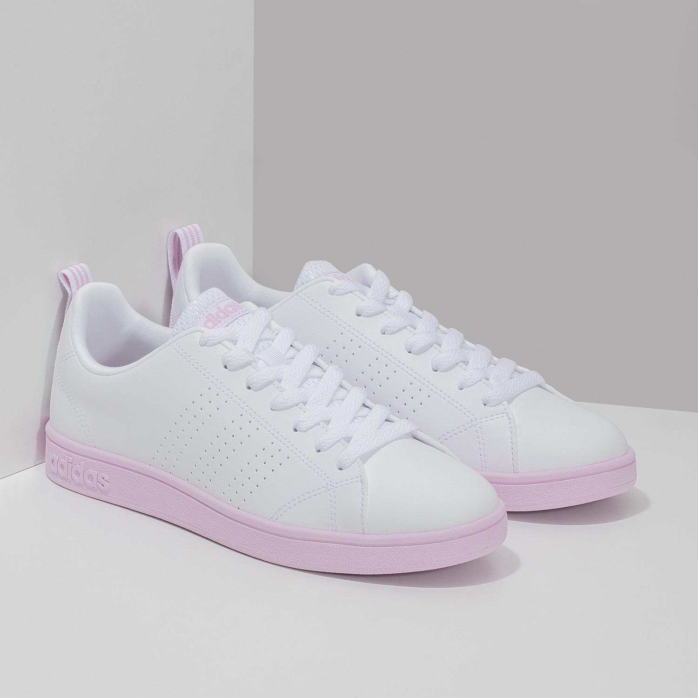 a4ce3297e83 ... Dámské bílé tenisky s růžovou podešví adidas