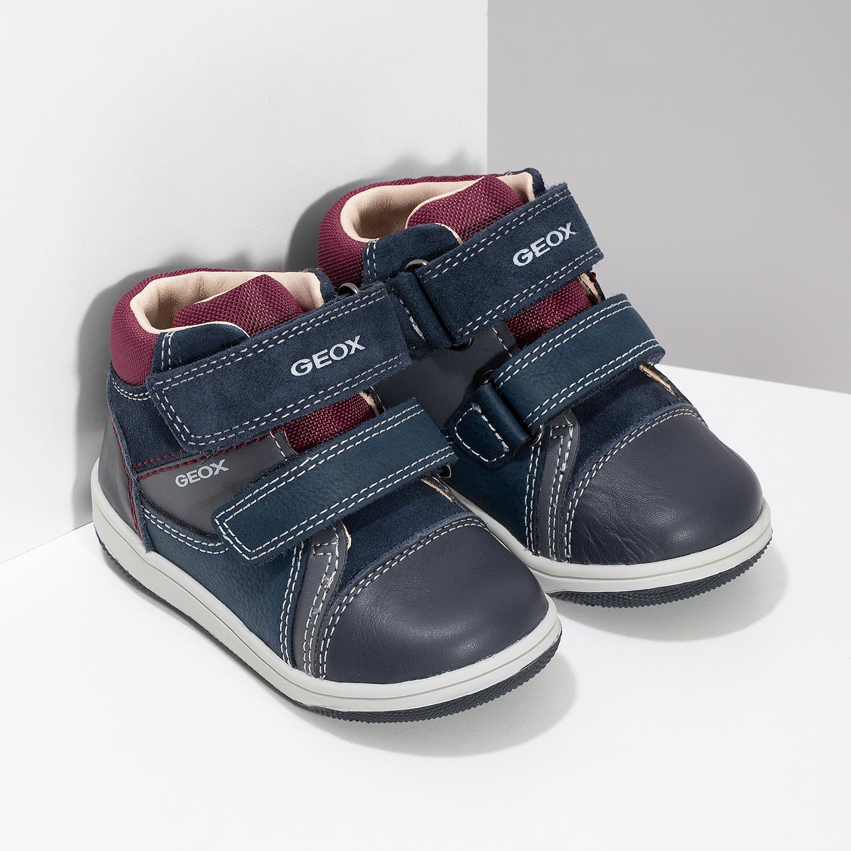 Geox Modrá dětská kožená kotníčková obuv - Všechny dětské boty  703b9e724f
