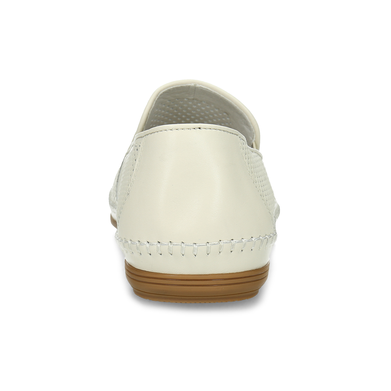 601306bd0 ... Bílé kožené pánské Loafers bata, bílá, 834-1627 - 15 ...